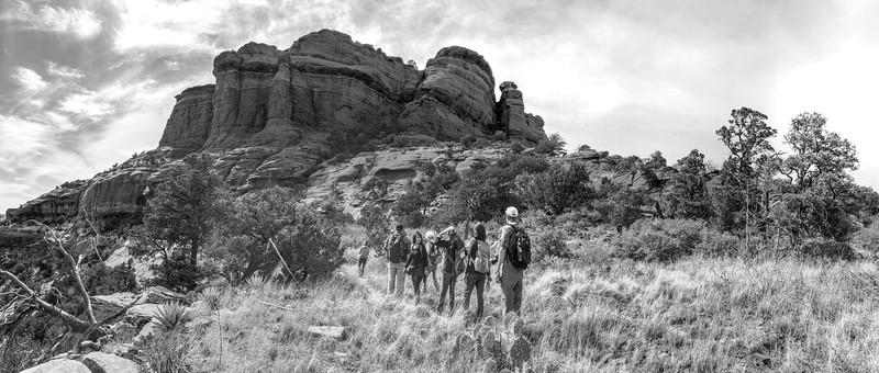 Hike in Long Canyon in Sedona, Arizona.