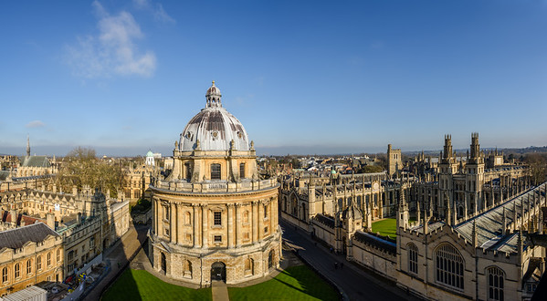 Oxford seen from the tower of St Mary's church