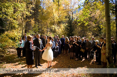 Campground wedding. Big Cottonwood Canyon, Utah