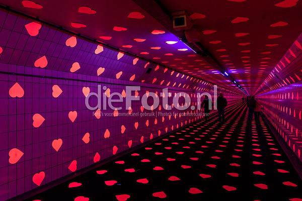 Tunnel of Love Maastunnel voetgangerstunnel Feb 2019 - Fotograaf Rogier Bos