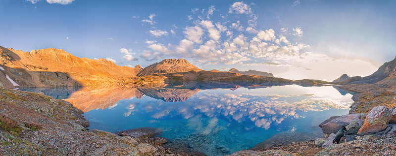 Columbine Lake Sunrise Panorama