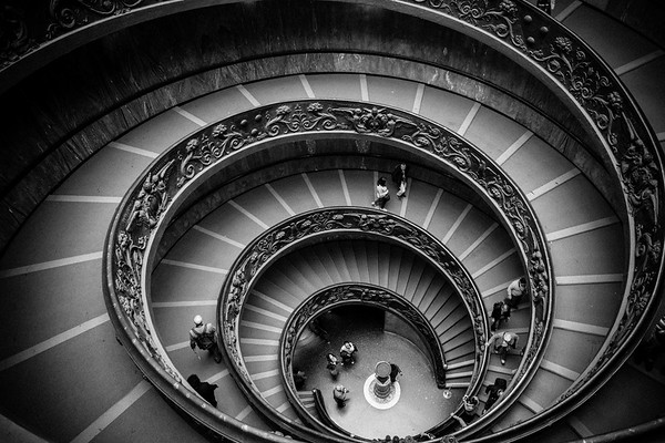 Spiral Stairs of Vatican Museum