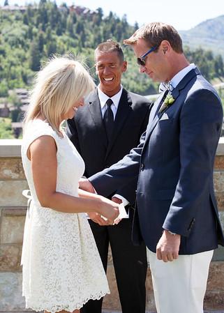 Wedding laughter and love at The St. Regis Deer Valley Utah