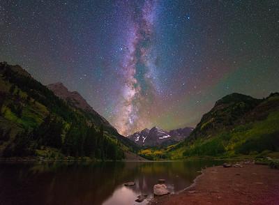 Milky Way Over Maroon Bells