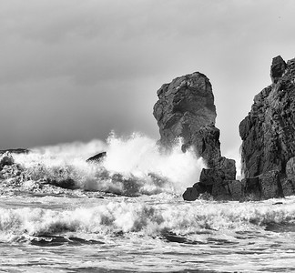 II)  Pounding waves on Dail Mor, Isle of Lewis