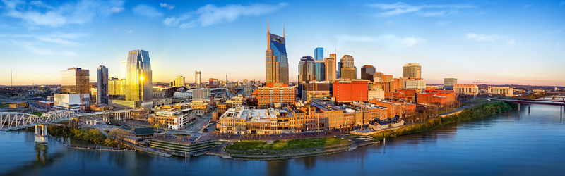 Nashville skyline in the morning