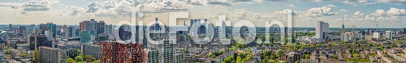 Skyline Rotterdam vanaf First Rotterdam