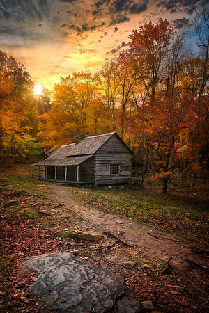 Cabin in smoky mountain national park