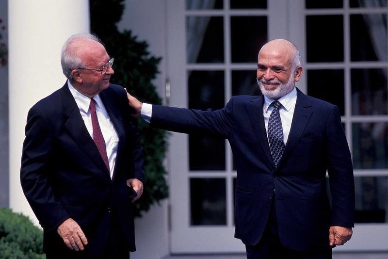 King Hussein & Yitzhak Rabin, Washington DC
