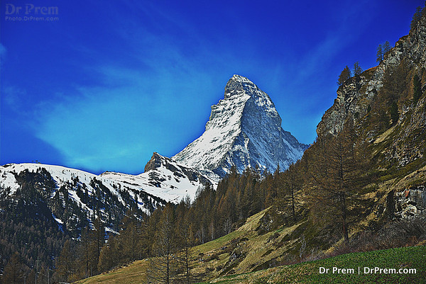 Look At Matterhorn Kisses The Blue Skies