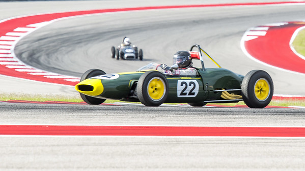 1961 Lotus 20/22 FJ driven by Jeff Anderson