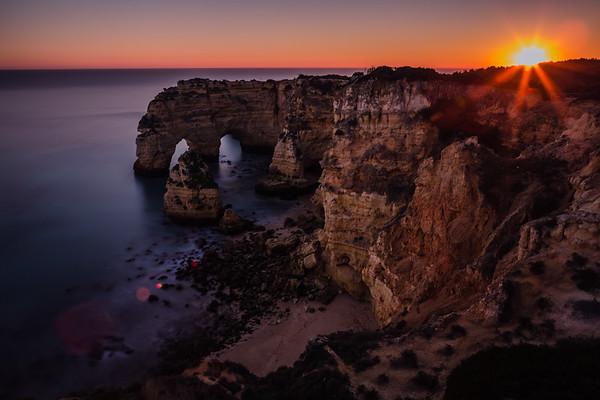 Sunset at Praia da Mesquita