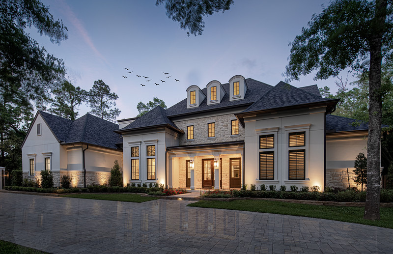 The Woodlands Exterior Twilight Photography