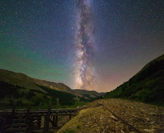 Milky Way over Argentine Pass, Colorado