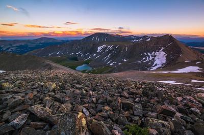 Crystal Peak Sunset / Pacific Peak / Quandary Peak