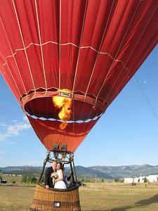 Hotair balloon wedding in Park City, Utah