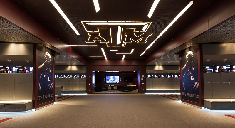 texas a&m football locker room connie anderson texas architectural photographer