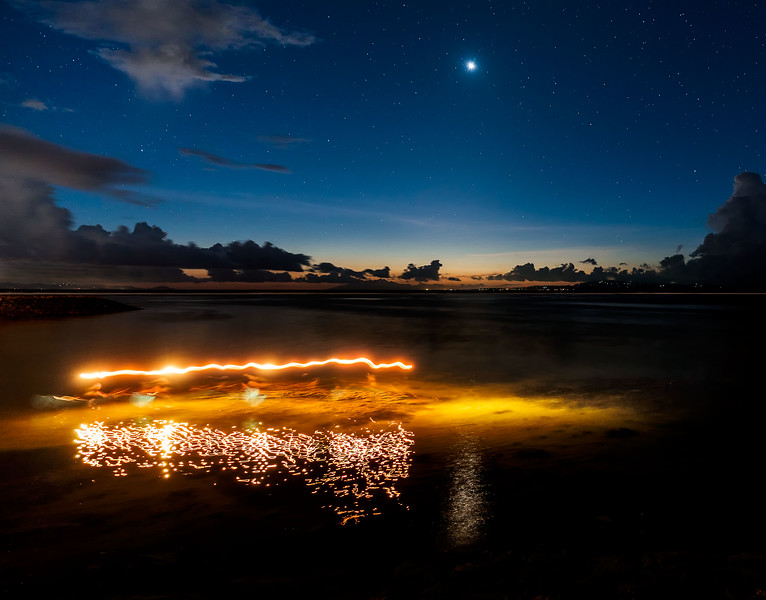 Venus, Rinjani, and Night Fishermen
