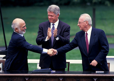 King Hussein, President Bill Clinton & PM Yitzhak Rabin, Washington DC