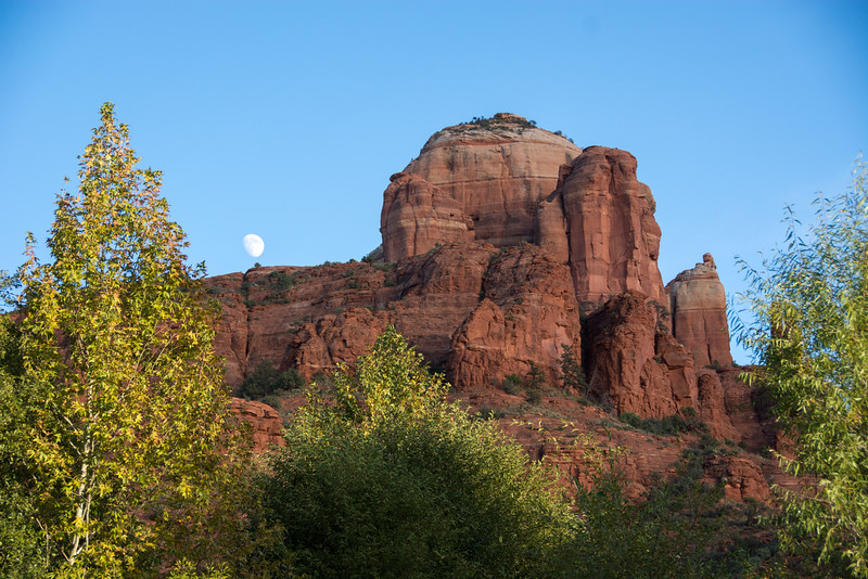 Moonrise Over Cathedral Rock