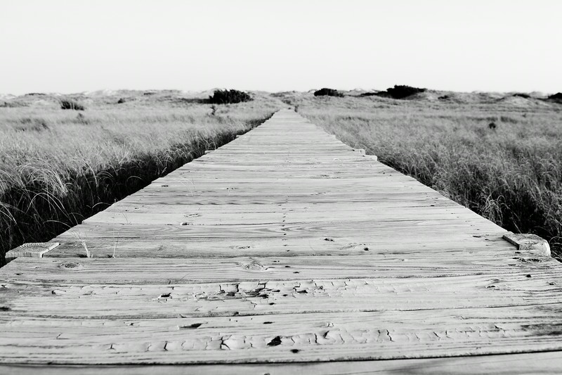 Boardwalk at the Outer Banks in North Carolina.