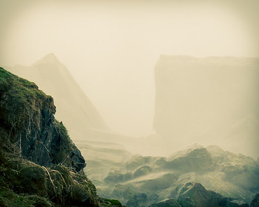 Rocks in Mist 1 - Niagara Falls State Park, NY