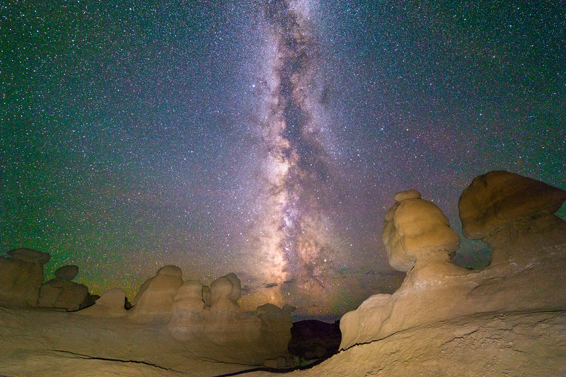 Milky Way in Goblin Valley, Utah