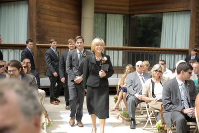Leading in with my groom at Snowbird Resort, Utah