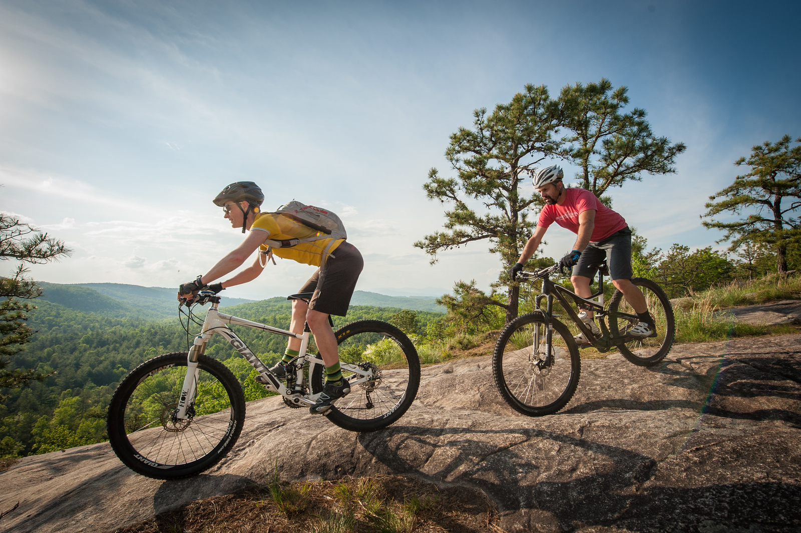 Mountain biking in Dupont State Forest outside of Brevard, North Carolina