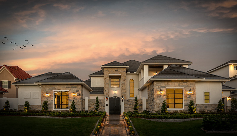 Texas Exterior Twilight McVaugh Custom Homes