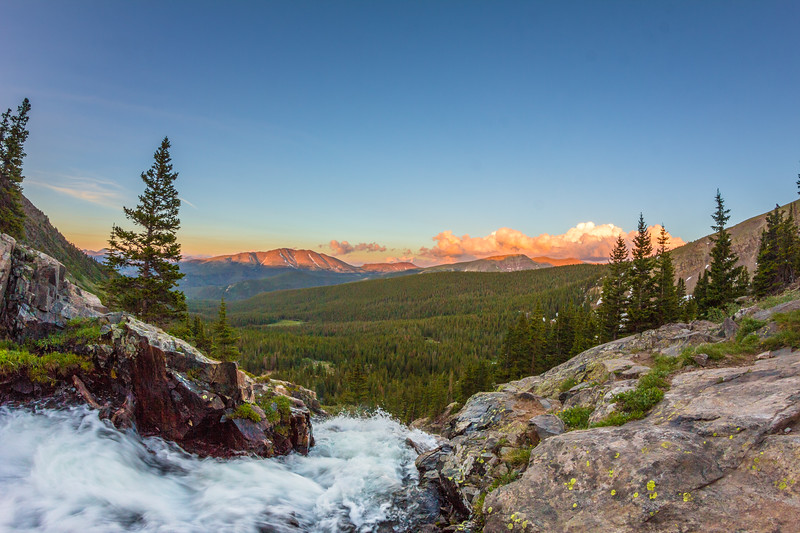 Sunset Atop Continental Falls