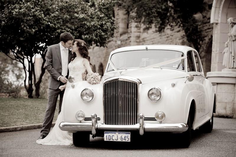 Old wedding limos rols