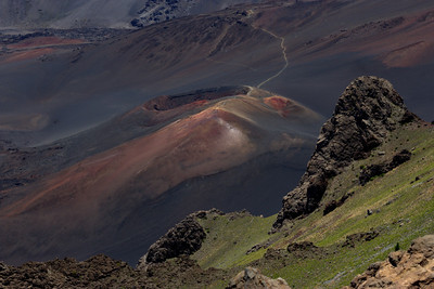 """On The Edge"" (Lelewi overlook -- Ka Lu'u o ka O'o -- Haleakala National Park)"