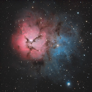 M20, the Trifid Nebula in Sagittarius