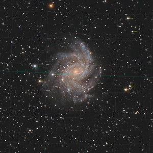 NGC 6946, the Fireworks Galaxy  in Cygnus (Annotated)