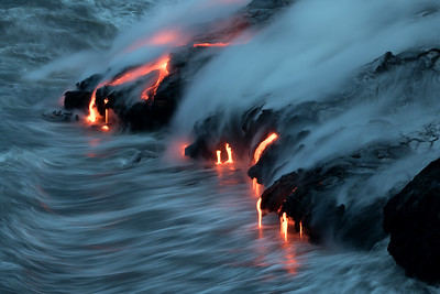 """Force And Fire"" (Kamokuna ocean entry, Hawaii Volcanoes National Park 08/21/2016)"