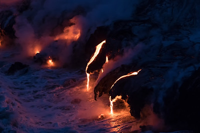 Kamokuna ocean entry, Hawaii Volcanoes National Park 08/21/2016