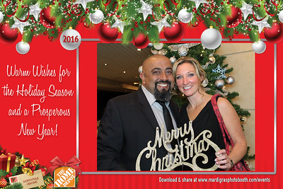 Postcard Photos from Home Depot Holiday Party 2016 - #7003