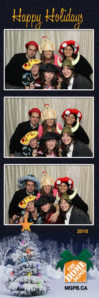 Photo Strips from Home Depot Holiday Party #7021