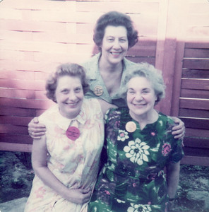 Left to Right: Jule, Fran, Dorothy; Easter, 1983