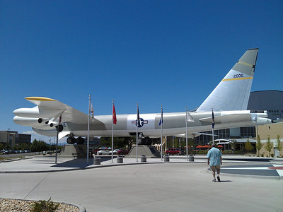 large plane outside the museum where Jim volunteered