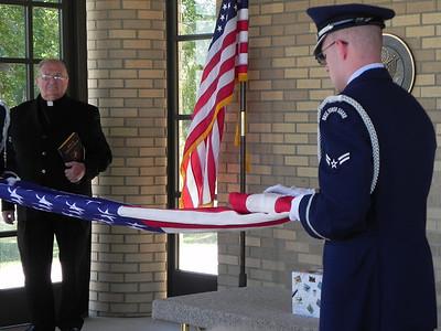 flag-folding ceremony