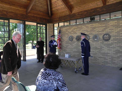Air Force ceremony at military cemetery