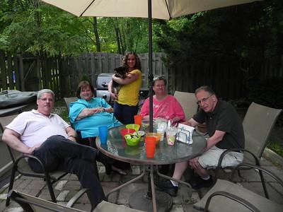 The Traskens: Joe, Michelle, Caryn (holding Pebbles), & Harriet; Alan Gittis