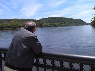 Alan on New Hope bridge