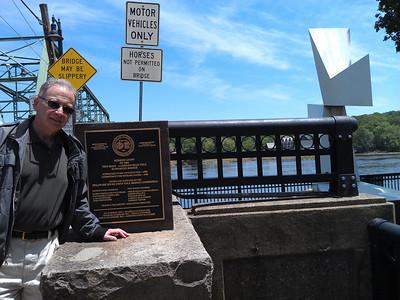 Alan at the New Hope bridge