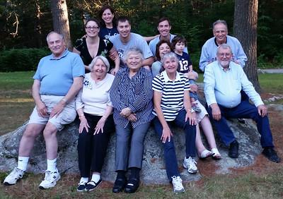 Front: Tom Timmons, Hazel Sutherland, Lois Whelan, Margaret Gittis, Johnny Johnson; Row 2: Carol Timmons holding Madeline Timmons, Alan Gittis; Row 3: Bree and Dan Timmons, David Timmons; Back: Stefani Timmons