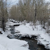 12/19:  Downstream from the same spot.  Check out the ice bridge left intact.