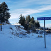 """12/26:  And the next day was blue skies yet again.  This is the """"corner"""" of Conlin and our road."""