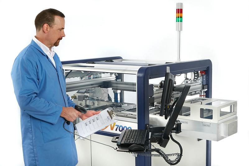 Technician and Machinery